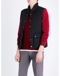 Armani | Red Sleeveless Quilted Gilet for Men | Lyst