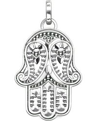 Thomas Sabo - Metallic Hand Of Fatima Sterling Silver And Zirconia Pendant - Lyst