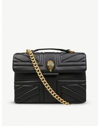 Kurt Geiger - Black Kensington Leather Union Jack Mini Shoulder Bag - Lyst