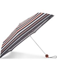 Fulton - Ladies Black Striped Ultra Light Umbrella - Lyst