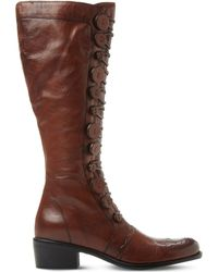 Dune - Brown Pixie D Leather Knee-high Boots - Lyst