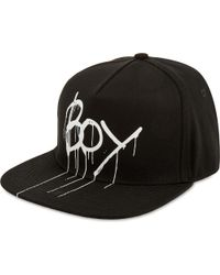 BOY London | Black Drip Logo Snapback for Men | Lyst