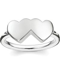 Thomas Sabo - Metallic Classic Sterling Silver Merging Hearts Ring - Lyst