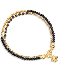 Astley Clarke - Metallic Biography Fire Element Double Row Spinel And 18ct Gold-plated Bracelet - Lyst
