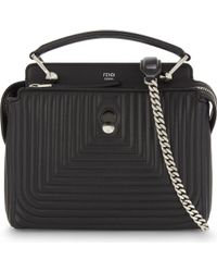 Fendi | Black Quilted Leather Cross-body Bag | Lyst