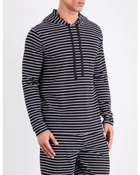 Polo Ralph Lauren - Blue Striped Cotton-jersey Hooded Top for Men - Lyst