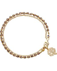 Astley Clarke - Metallic Four Leaf Clover Smoky-quartz Friendship Bracelet - Lyst