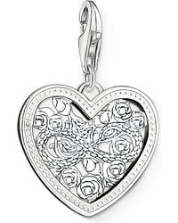 Thomas Sabo | Metallic Charm Club Silver And Zirconia Infinity Heart Charm Pendant | Lyst
