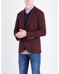 Brunello Cucinelli - Purple Regular-fit Wool And Cashmere-blend Jacket for Men - Lyst