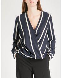 00ca193818bf5 Lyst - Rag   Bone Victor Stretch-silk Shirt in White