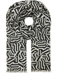Richard James - Black Dazzle Camouflage Cashmere-silk Blend Scarf - Lyst