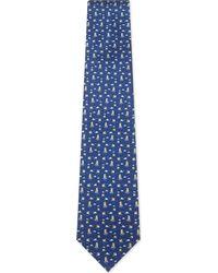 Ferragamo - Blue Penguin On Ice Silk Tie for Men - Lyst