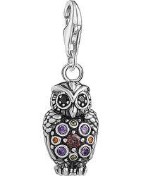 Thomas Sabo - Metallic Charm Club Sterling Silver Multistone Owl Charm - Lyst