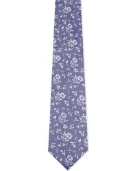 Duchamp - Purple Floral Pattern Silk Tie for Men - Lyst