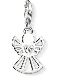 Thomas Sabo | White Charm Club Angel Diamond Pendant | Lyst