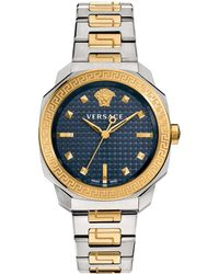 Versace - Blue Vqd140016 Dylos Two Tone Watch - Lyst