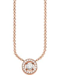 Thomas Sabo - Metallic Light Of Luna 18ct Rose Gold-plated Sterling Silver Necklace - Lyst