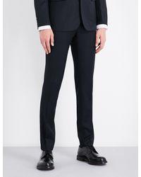 Sandro - Blue Tapered Birdseye Wool Trousers for Men - Lyst
