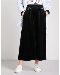 Mini Cream - Black Wide Velvet Trousers - Lyst