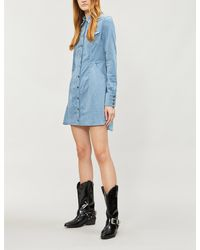 e09c5a3861 Lyst - Free People Dynamite Fitted Corduroy Mini Dress in Blue