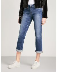 PAIGE - Blue Jimmy Jimmy Straight High-rise Jeans - Lyst