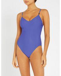 Calvin Klein - Blue Core Solids Swimsuit - Lyst