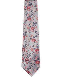Duchamp   Pink Fancy Floral Silk Tie for Men   Lyst