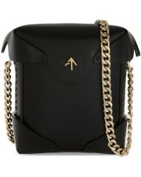 MANU Atelier - Black Micri Pristine Leather Shoulder Bag - Lyst