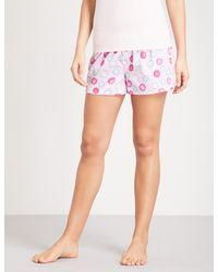 PETER ALEXANDER - Pink Christmas Cracker Spot Cotton Pyjama Shorts - Lyst