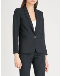 Sandro - Black Single Breasted Woven Jacket - Lyst