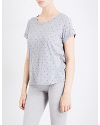 Tommy Hilfiger - Gray Logo-print Cotton-blend Pyjama Top - Lyst