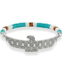 Thomas Sabo - Black Eagle Love Bridge Sterling Silver Bracelet - Lyst
