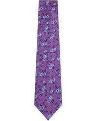 Duchamp - Purple Floral Silk Tie for Men - Lyst