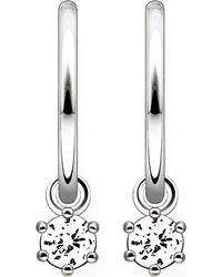 Thomas Sabo | Metallic Zirconia Hinged Hoop Earrings | Lyst