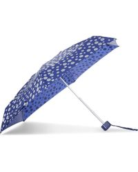 Fulton | Blue Polka Dot Print Umbrella | Lyst