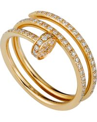 Cartier - Juste Un Clou 18ct Yellow-gold And Diamond Ring - Lyst