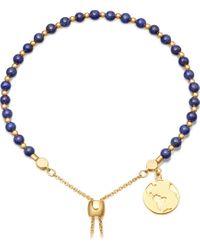 Astley Clarke - Black Lapis Earth 18ct Gold Plated Sterling Silver Kula Bracelet - Lyst