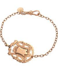 Annina Vogel | Metallic 9ct Rose-gold Knowledge Comes But Wisdom Lingers Medallion Antique Bracelet | Lyst