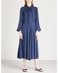 MICHAEL Michael Kors - Blue Pleated Silk Jumpsuit - Lyst