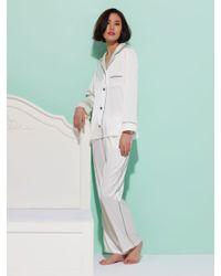 Shanghai Tang - White Women's Classic Pajama Set - Lyst