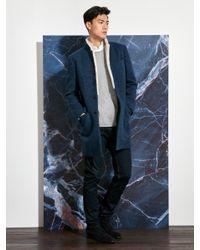 Shanghai Tang   Multicolor Fur Collar Wool Blend Coat (slim Fit) for Men   Lyst
