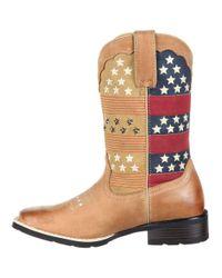 Durango - Brown Mustang Pull-on Patriotic Western Boot - Lyst