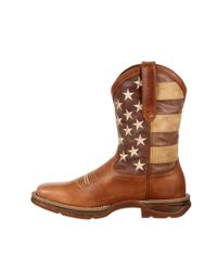 Durango - Brown Rebel By Faded Union Flag Western Boot for Men - Lyst