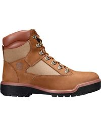 """Timberland - Brown Field Boot 6"""" Fabric And Leather Waterproof Boot for Men - Lyst"""