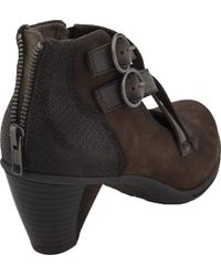 Earth - Black Amber Heeled Bootie - Lyst