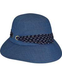 7100c0ffbab Lyst - Betmar Camilla Bucket Hat in Blue