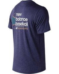 New Balance - Blue Mt81702 Long Ball Tech Tee for Men - Lyst
