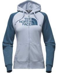 The North Face - Blue Half Dome Full Zip Hoodie - Lyst