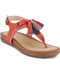G.H. Bass & Co. | Red Sadie Tassel Slingback | Lyst