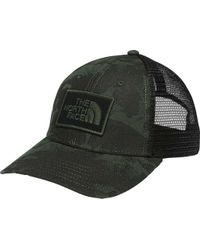 The North Face - Green Printed Mudder Trucker Hat for Men - Lyst